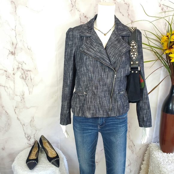 Sandro Paris designer asymmetrical zip jacket